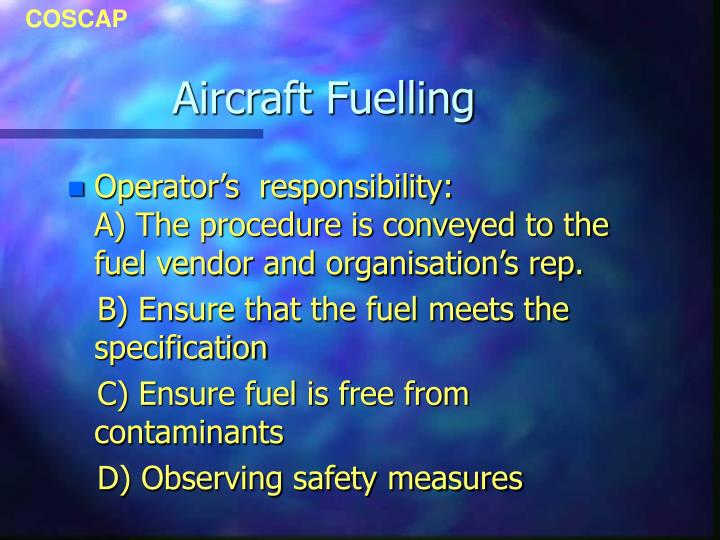 Aircraft fuelling3