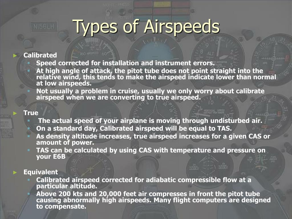Types of Airspeeds