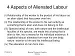 4 aspects of alienated labour