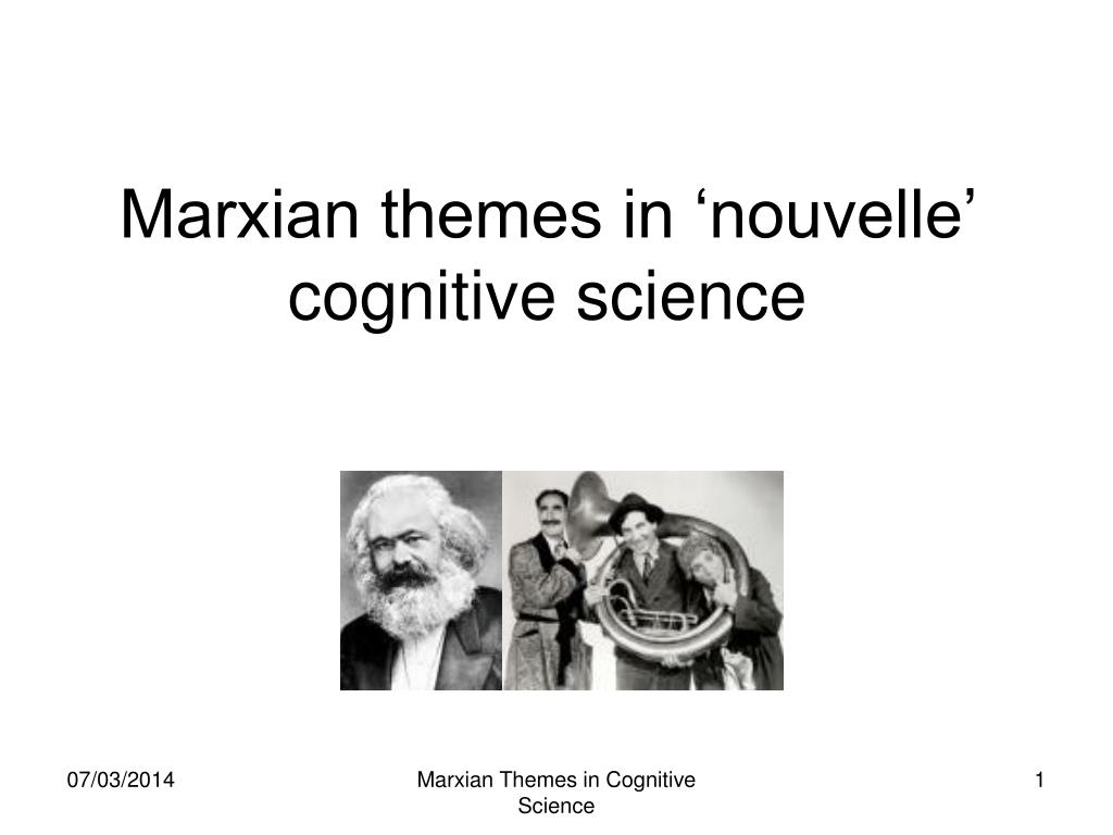 marxian themes in nouvelle cognitive science l.