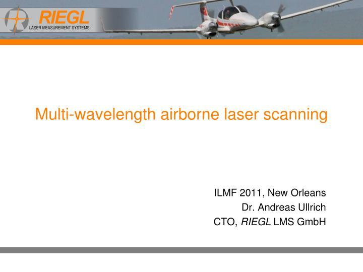 multi wavelength airborne laser scanning n.