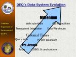 deq s data system evolution