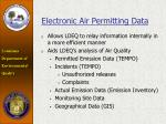 electronic air permitting data