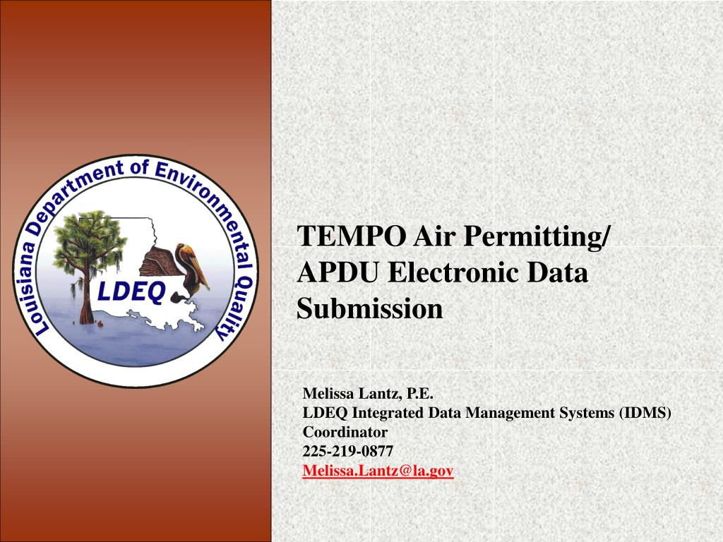 tempo air permitting apdu electronic data submission l.