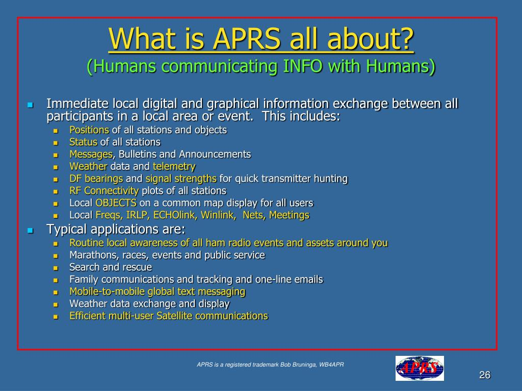 What is APRS all about?