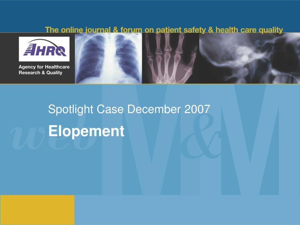spotlight case december 2007 l.