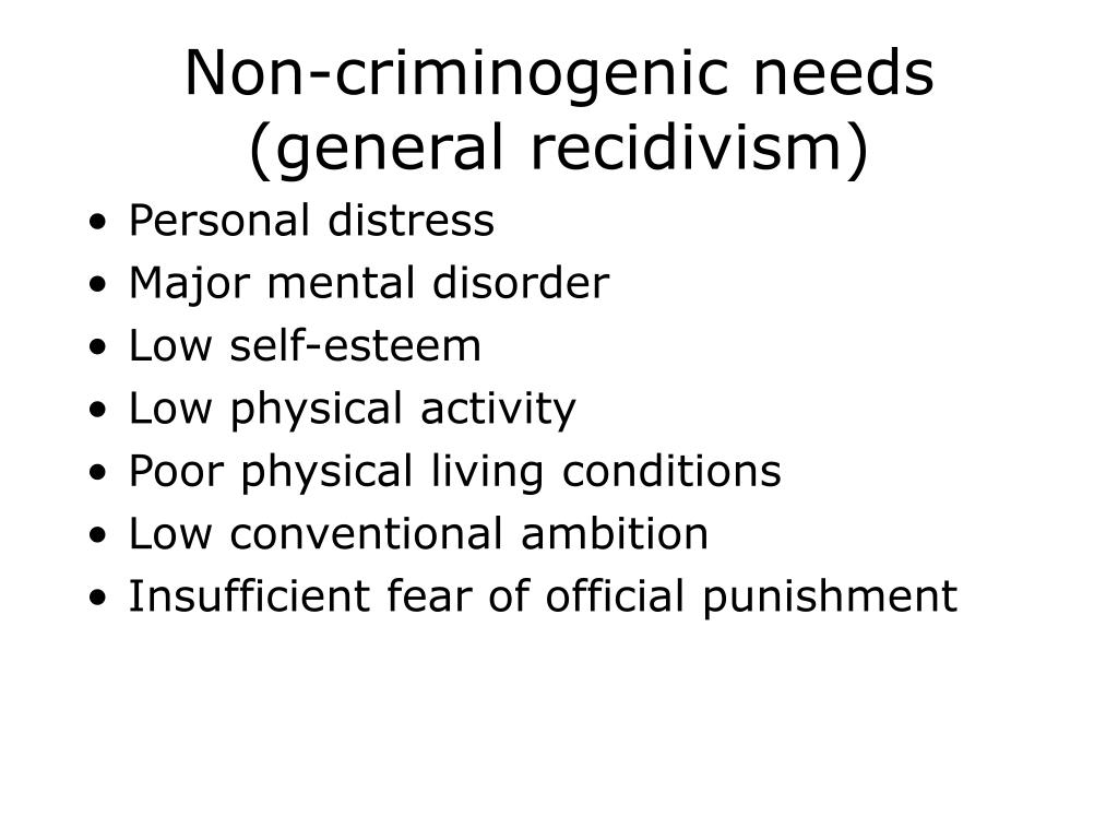 Non-criminogenic needs