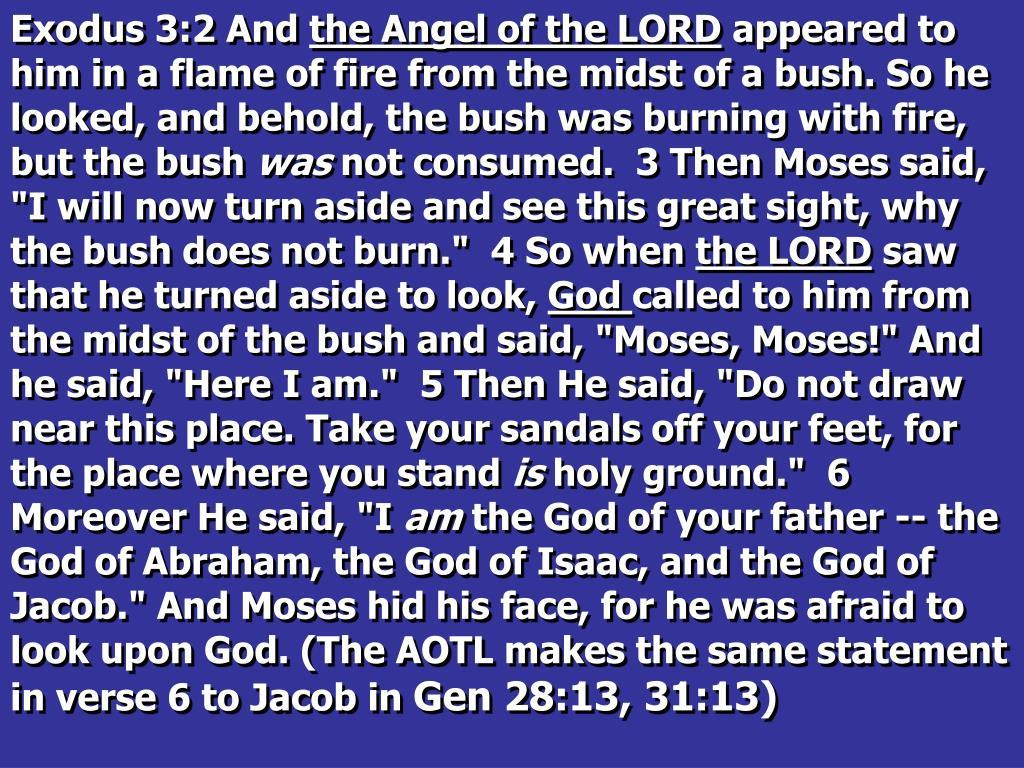 Exodus 3:2 And