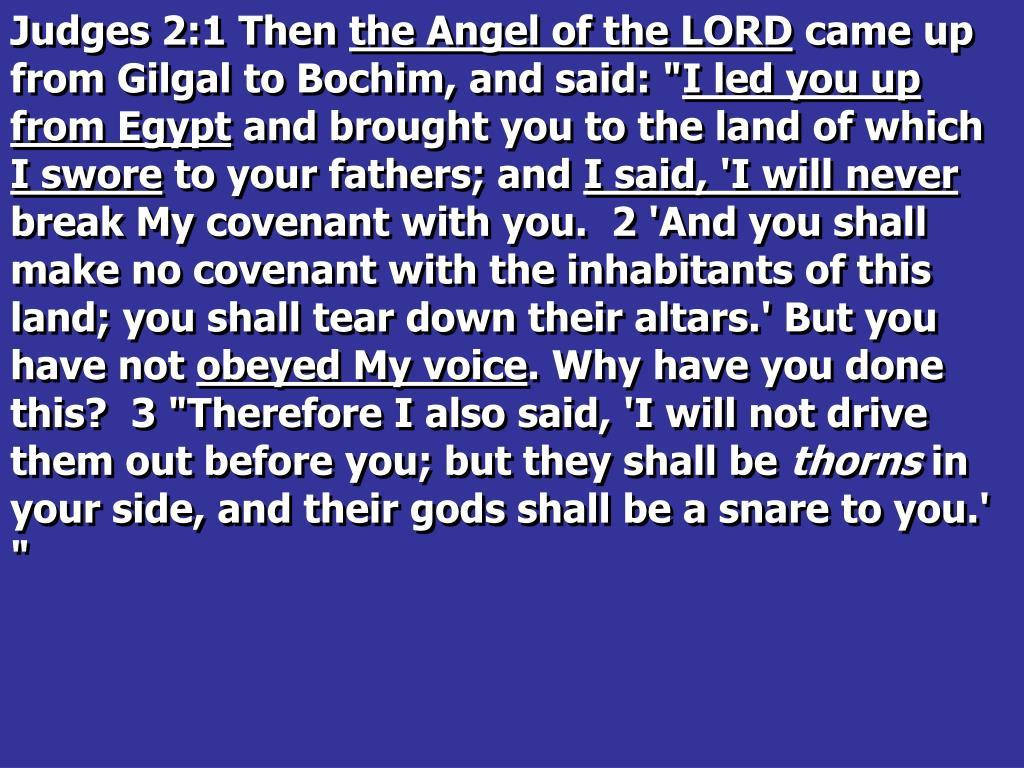 Judges 2:1 Then