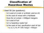 classification of hazardous wastes19