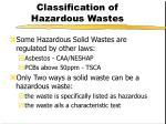 classification of hazardous wastes6