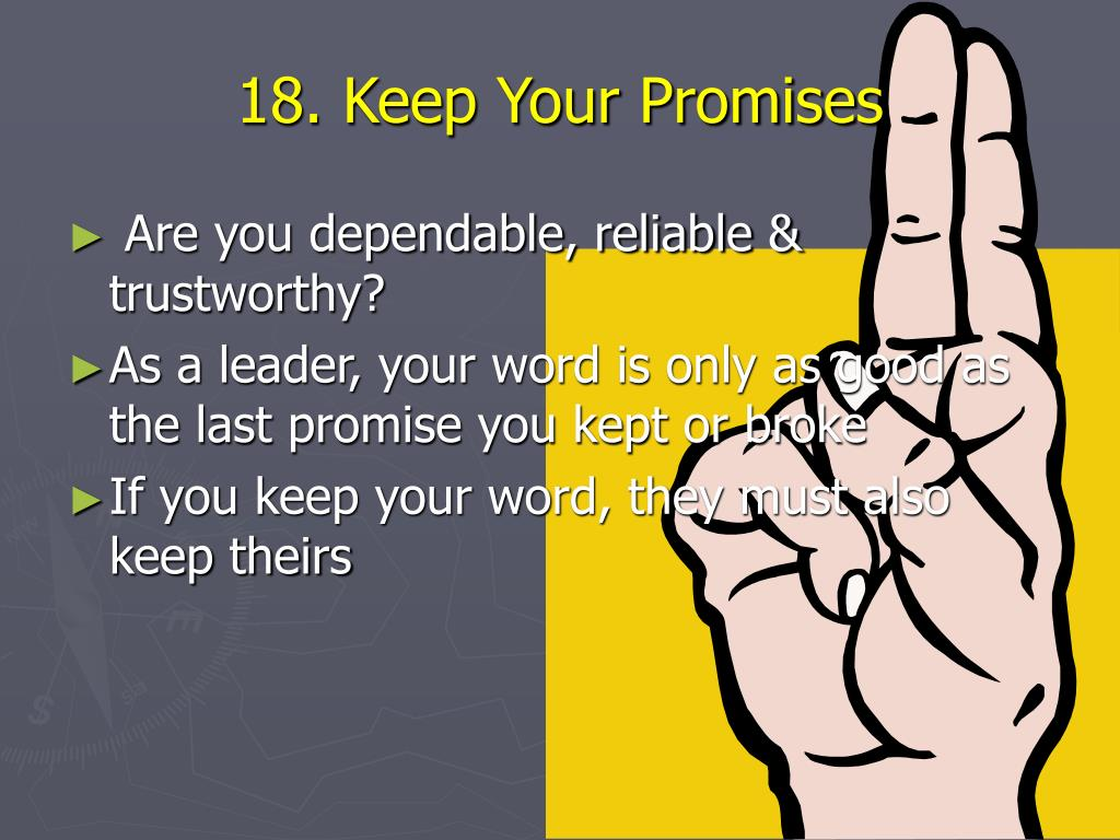 18. Keep Your Promises