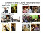 what does the lohas forum provide