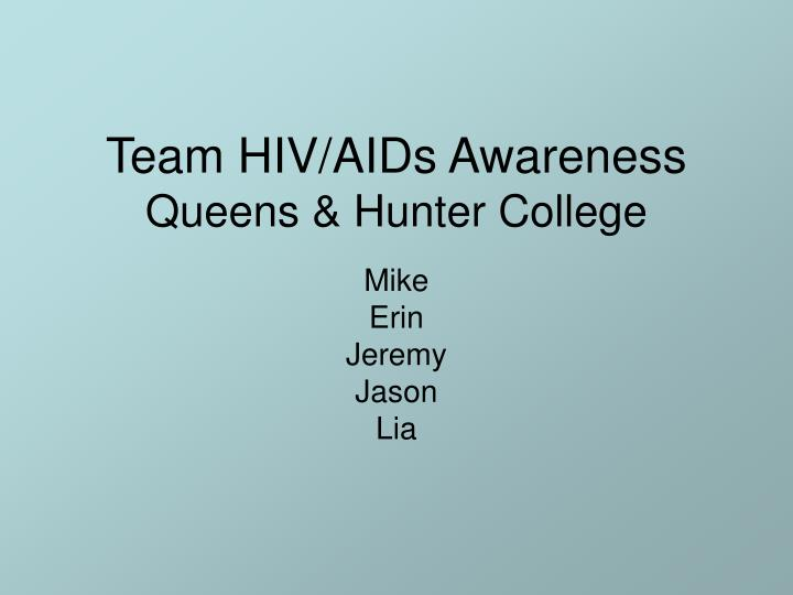 Team hiv aids awareness queens hunter college