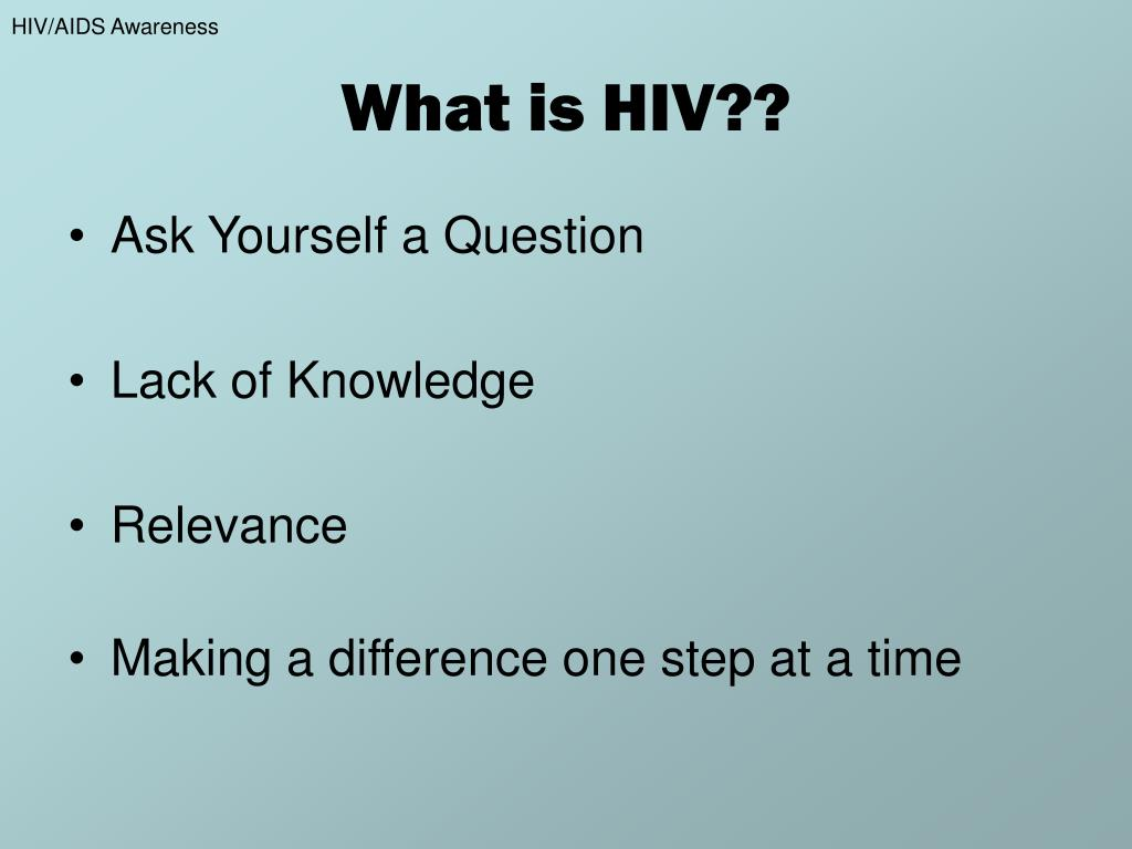 What is HIV??