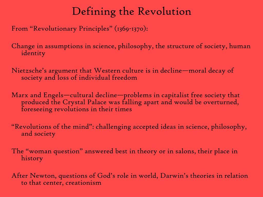 Defining the Revolution