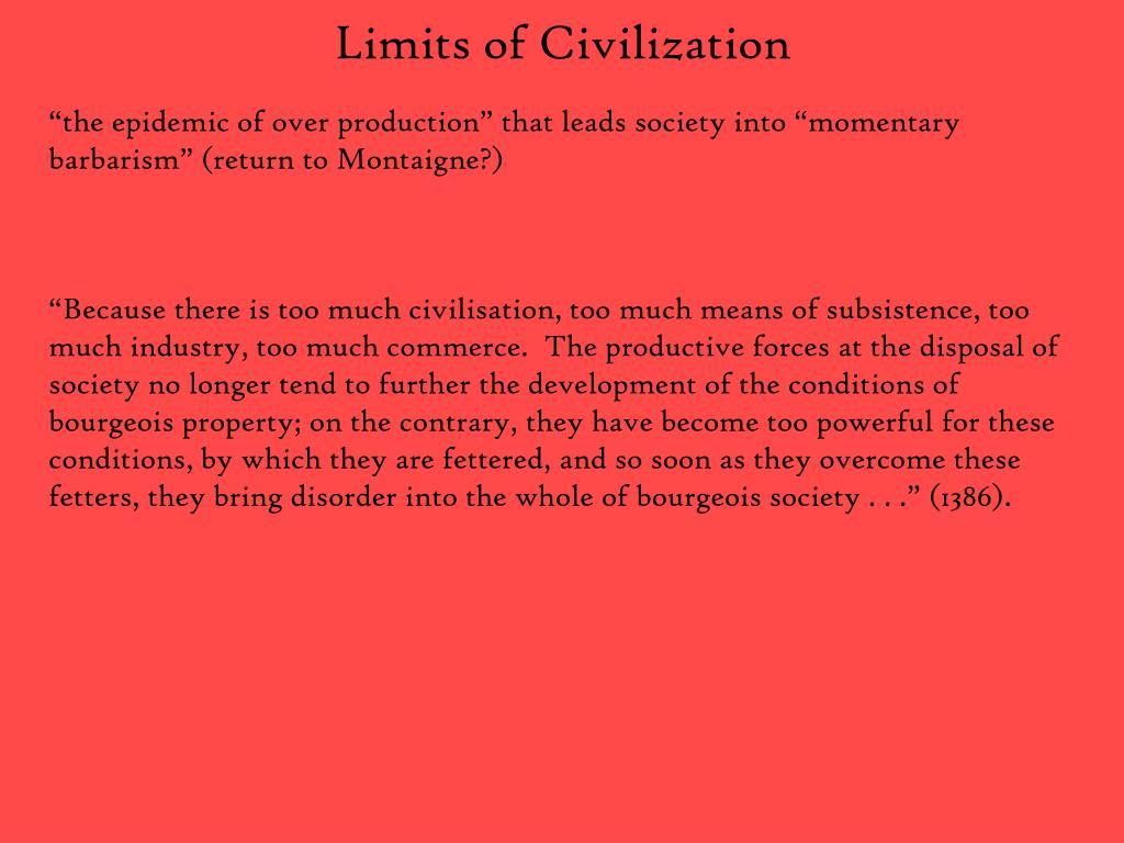Limits of Civilization