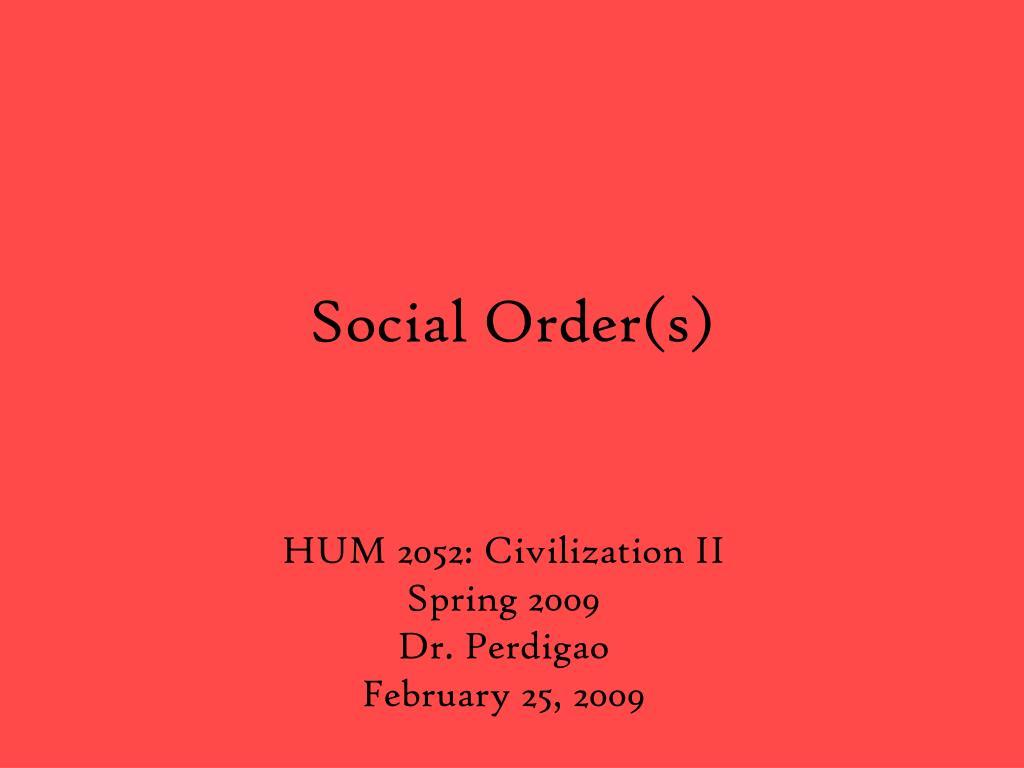 social order s l.