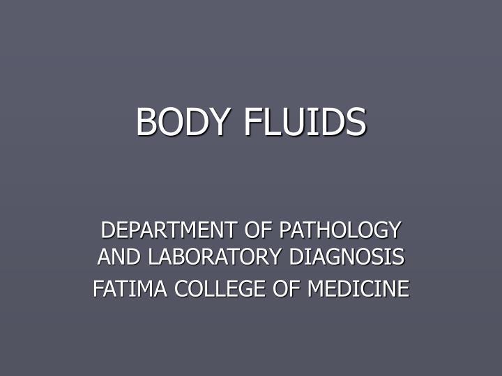 body fluids n.