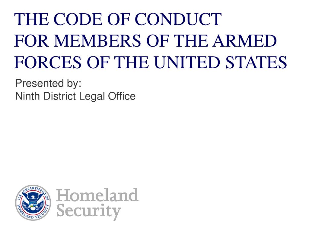 the code of conduct for members of the armed forces of the united states l.