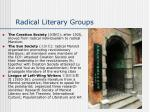 radical literary groups