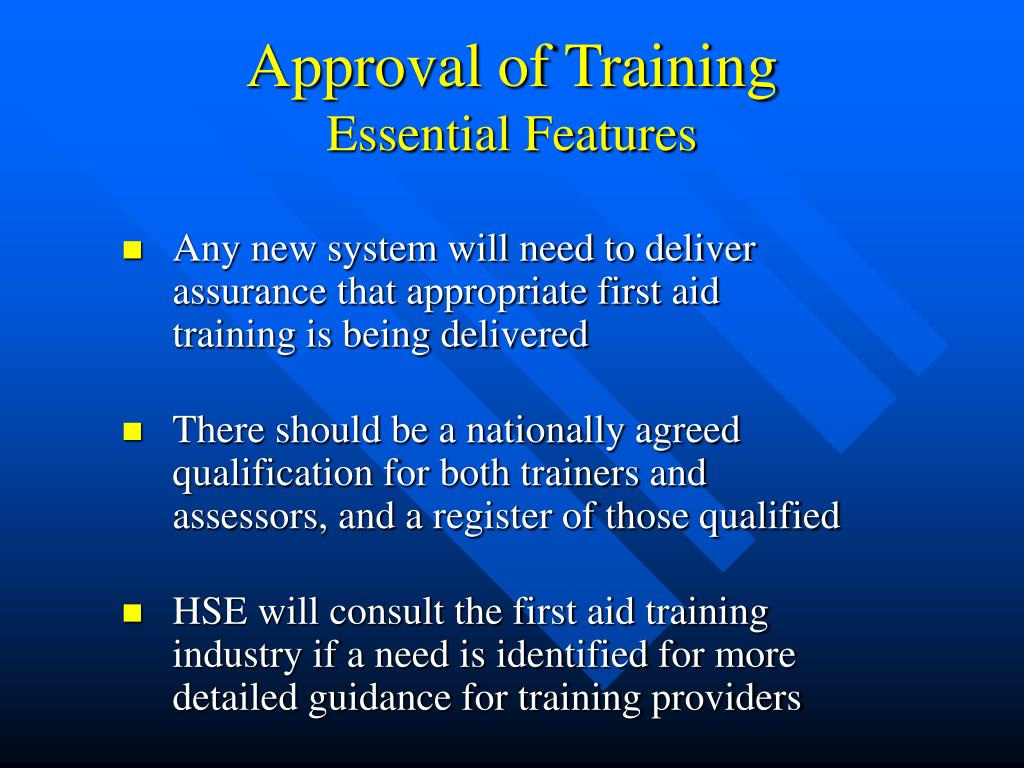 Approval of Training