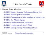line search tasks
