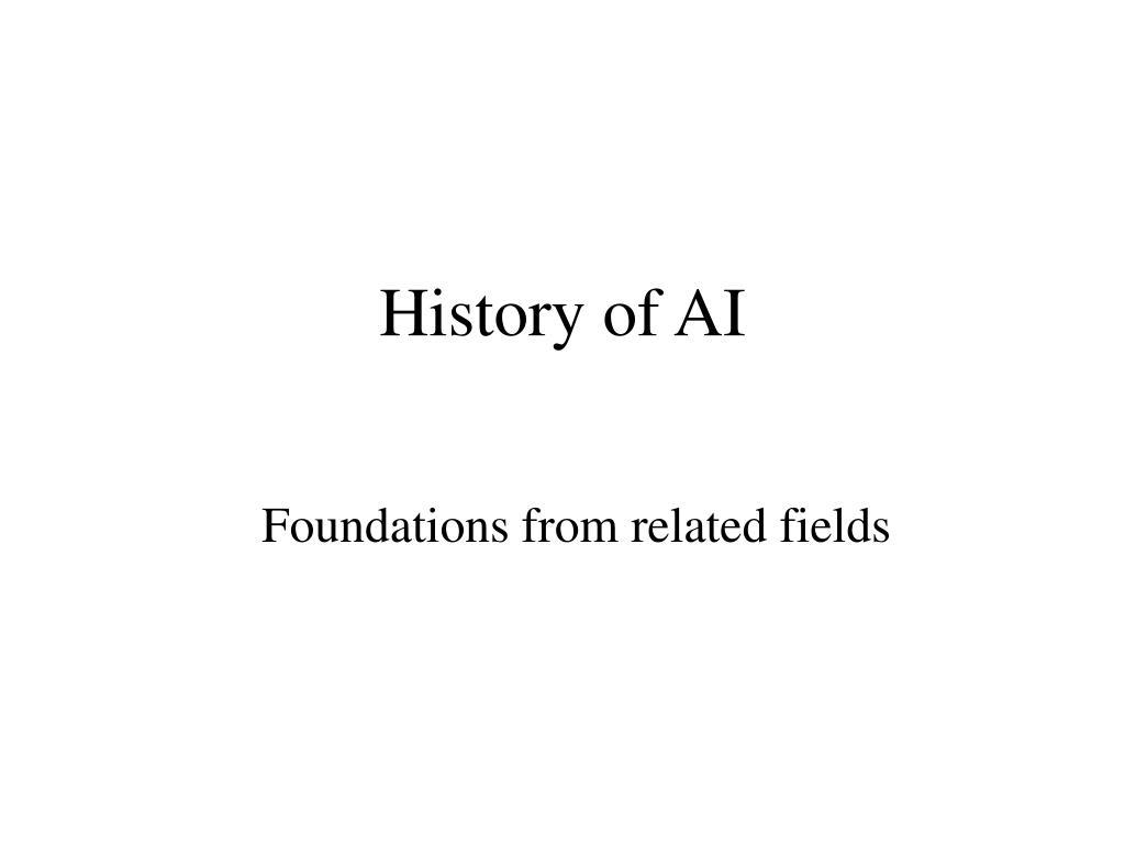 history of ai l.
