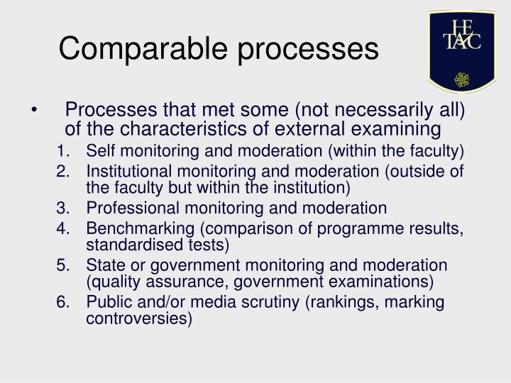 Comparable processes
