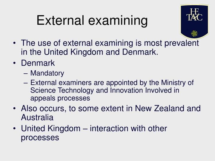 External examining