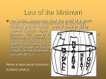 law of the minimum