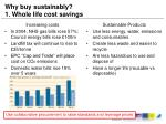 why buy sustainably 1 whole life cost savings