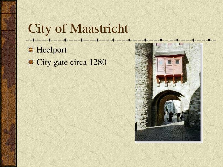 City of Maastricht