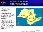 brazil sao paulo http www ansp br