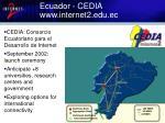 ecuador cedia www internet2 edu ec