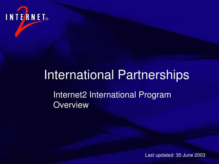 international partnerships n.