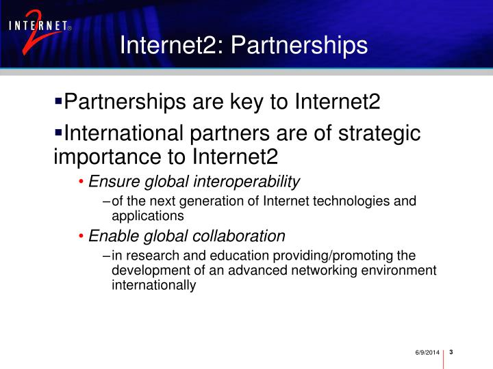 Internet2 partnerships