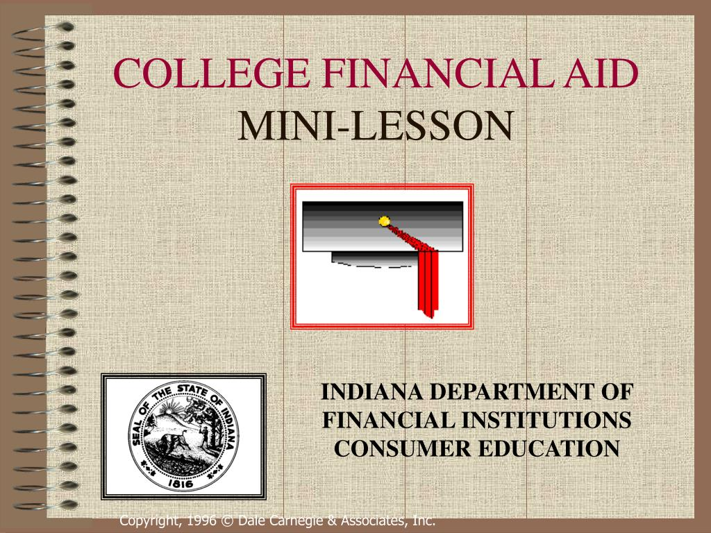 college financial aid mini lesson l.