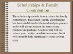 scholarships family contribution