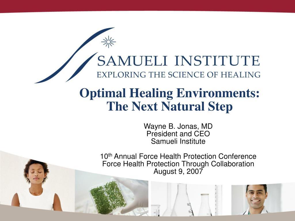 optimal healing environments the next natural step l.