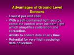 advantages of ground level sensors