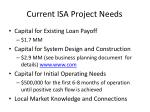 current isa project needs