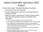 indoor sustainable agriculture isa project