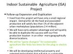 indoor sustainable agriculture isa project17