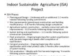 indoor sustainable agriculture isa project18