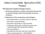 indoor sustainable agriculture isa project21