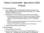 indoor sustainable agriculture isa project25