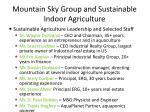 mountain sky group and sustainable indoor agriculture13
