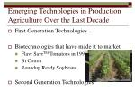 emerging technologies in production agriculture over the last decade