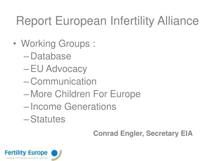 report european infertility alliance n.